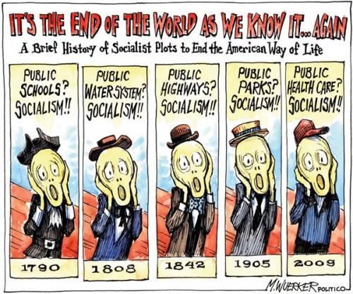 A Brief History of Socialist Plots to End the American Way of Life by Matt Wuerker